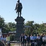 Церемония возложения цветов и венков к памятнику Петру I - logo