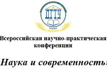 Отчет о Всероссийской научно-практической конференции студентов и молодых ученых «Наука и современность»